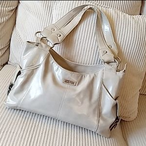 Kenneth Cole Reaction Shoulder Bag Gray Taupe